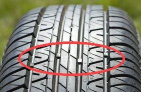 témoin d'usure des pneumatiques