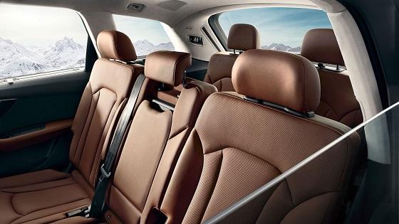 Audi Q7 : sièges de la deuxième rangée